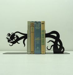 Tentacle Pirate Ship Attack Bookends  Free by KnobCreekMetalArts, $49.99