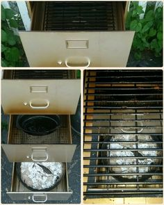 Filing cabinet smoker