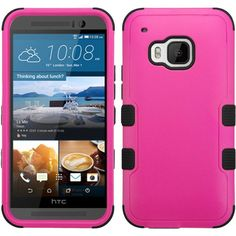 MYBAT HTC One M9 Case TUFF Hybrid Series - Hot Pink/Black