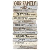 Found it at Wayfair - Our Family Will Stacked Wood Word Study Wall Décor