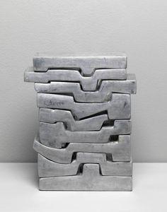 Poem of Nine Verses (1966-8) by Saloua Raouda Choucair, Aluminium Dimensions: 270 x 210 x 70 mm