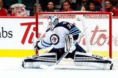 Michael Hutchinson of the Winnipeg Jets Nhl Games, Hockey Goalie, Espn, Calgary, Jets, Captain America, Photo Galleries, December 22, Superhero