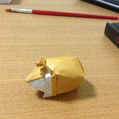 【Origami】Hamster (Designed by Yoo Tae Yong) | ハムスター (ユ・テヨン作:… | Flickr