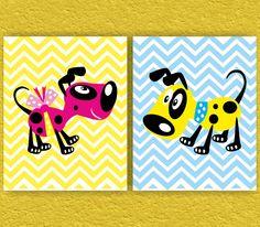 Dogs Nursery Art Print  Kids Art Print Kids Wall Decor by ANYPRINT, $24.00