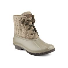 Women's Sperry Top-Sider Saltwater Rope Emboss Neoprene Duck Boot... ($120) ❤ liked on Polyvore featuring shoes, boots, casual, waterproof boots, waterproof shoes, lace up boots, sperry shoes, lace up roper boots and evening shoes