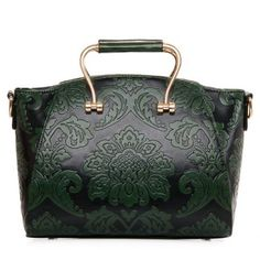 Vintage Embossing and PU Leather Design Women's Tote Bag