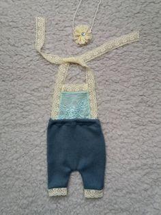 0-1 Newborn Romper, Baby Girl Headband, Newborn Prop Outfit, Baby Girl Photo Props,  Baby Romper, Newborns Girls Props, Baby Prop Outfit by KaroLovewdzianka on Etsy