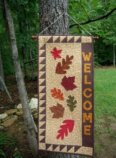 Quilted Wall Hanging, Door Banner,