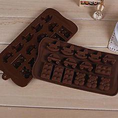 urso dos desenhos animados forma cavalinho de pau carro molde do bolo geléia gelo molde de chocolate, silicone 21,5 × 10,7 × 1,5 cm (8,5 × 4,2 × 0,6 de 2016 por €17.49