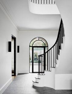 Modern design by robson rak 2 handrail & stairs дизайн дома, Home Interior Design, Interior Architecture, Interior Decorating, Decorating Ideas, Stairs Architecture, Home Luxury, Luxury Homes, Melbourne House, Georgian Homes