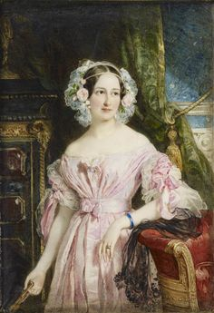 Princess Feodora of Hohenlohe-Langenburg, by Sir William Ross, 1838. She was Queen Victoria's half-sister, from the Duchess of Kent's first marriage.