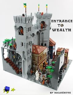 Time to go back to the Middle Ages - Lego Castle – How to build it Lego Le Hobbit, Chateau Lego, Lego Burg, Lego Knights, Lego Sculptures, Lego Army, Lego Pictures, Lego Craft, All Lego