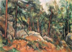 In the Forest, 1899 by Paul Cezanne, Final period. Post-Impressionism. landscape