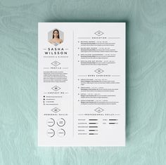 4page Resume Template / CV Template Pack + Cover Letter for Word + icon pack…
