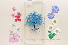 iPhone 6 Case, iPhone 6s Case, iPhone 5 Case, Samsung Galaxy S6 Case, S4 Case, 6s Plus Case, 6 Plus Case, Clear Pressed Flower Case Tree by ShopOhMyGoodies on Etsy https://www.etsy.com/listing/251276406/iphone-6-case-iphone-6s-case-iphone-5