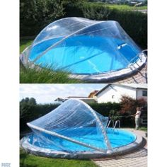 Cabrio dome for round pools up to m m) swimming pool . - Cabrio dome for round pools up to m m) swimming pool … - Diy Swimming Pool, Swimming Pool Construction, Diy Pool, Backyard Pool Designs, Small Backyard Pools, Pool Landscaping, Modern Landscaping, Piscina Diy, Above Ground Pool