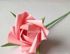 手工折紙製作:[9]玫瑰花(S.K.玫瑰) - 愛經驗