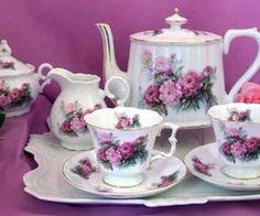 Perfect Pink Peony Porcelain Tea Set