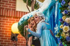 Anna and Elsa. Festival of Fantasy Parade. Magic Kingdom