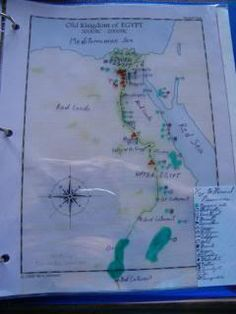 Acient Egypt overlay Maps. Somewhere I saw another mom who did this, but used a post it note on each overlay which contained a key. Anyone have an idea where this was?
