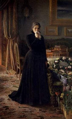 """Inconsolable Grief, Ivan Nikolaevich Kramskoy. Russian (1837-1887)"""