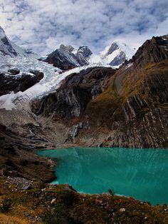 Laguna Solteracocha on the Huayhuash Trek in Peru