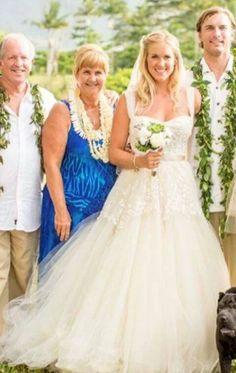 Bethany Hamilton wedding. Love her dress!