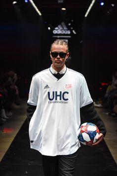 adidas & MLS Reinterpret Soccer Jerseys for the Runway Soccer Banner, Soccer Cards, Korean Fashion Men, Dope Fashion, Soccer Uniforms, Soccer Jerseys, Soccer Goal Size, Adidas Kit, Soccer Pro