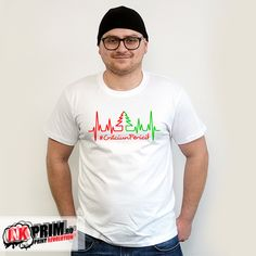 Tricou Pulsul Crăciunului Mens Tops, T Shirt, Fashion, Supreme T Shirt, Moda, Tee Shirt, Fashion Styles, Fashion Illustrations, Tee