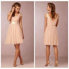 Cheap Under 100 Sexy 2015 Short Blush Lace Bridesmaid Dresses Short Sleeves V Neck Coral Gray Maid Of Honor Tulle Gowns Wedding Party Dress Pale Blue Bridesmaid Dresses Peach Bridesmaid Dress From Emilybridal, $70.69  Dhgate.Com