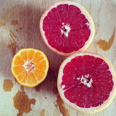 Grapefruit and clementine