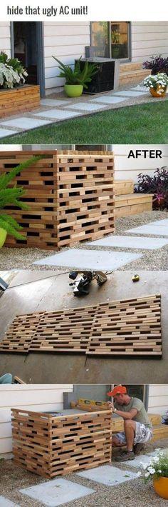 室外機をカバーしながらecoにも役立つアイデア memorial garden - air conditionne maison prix