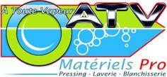 Création du logo de la société A TOUTE VAPEUR, matériel pour laveries et pressings