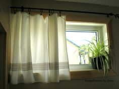 1930u0027s Cottage Industrial Style Home Tour. Basement Window CurtainsBasement  ... Gallery