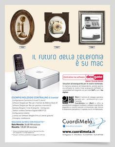 Campagna stampa promozione servizio store Apple CuordiMela  #adv #advertising #apple #CuordiMela