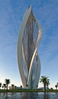 future, Futuristic Architecture, Blossoming Dubai, uae, petra architects, futuristic building, futuristic skyscraper, futuristic tower by Fu...