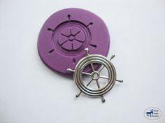 Captain's Ship Wheel Mold  Silicone Mold  by BlueGoatStudio, $3.95