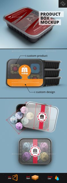 Plastic Product Box MockUp. Download here: http://graphicriver.net/item/plastic-product-box/16400771?ref=ksioks
