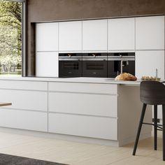 Mano | Suunnittele itse vetimetön valkoinen Mano-keittiö Kvikissä