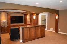 See more project details for Pewaukee, WI Lower Level Remodel by Advantage Carpentry and Remodeling, LLC including photos, cost and more.