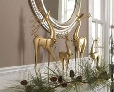 Deer and Spruce Branch Christmas Fireplace Mantel Decor Fireplace Mantels Decoration Christmas Fireplace Mantel Decor Christmas Decoration I. Fireplace Mantel Christmas Decorations, Silver Christmas Decorations, Christmas Mantels, Christmas Themes, Mantel Ideas, Mantles Decor, Fireplace Mantles, Elegant Christmas Decor, Modern Christmas