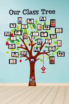 Fun classroom décor idea for elementary, preschool, kindergarten or daycare. Makes a great back to school decoration. Place pictures of your students in the frames to create a class tree to decorate your class. Classroom Wall Decor, Preschool Classroom Decor, Diy Classroom Decorations, Classroom Walls, School Decorations, Classroom Design, Kindergarten Classroom, Classroom Themes, Classroom Birthday