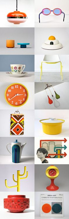 Mid Century Modern Mod by Pedro Vieira on Etsy--Pinned with TreasuryPin.com #midcenturymodern #mod #vintage #colorful #atomic #sixties #60s #1960s #pop #popart
