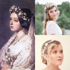 #ThrowbackThursday Looking for our inspiration for throwback Thursday we hit the book to research historical events that happened through the month of January! In 1877 Queen Victoria became the Empress of India! The monarchs throughout history have always been trendsetters. Below you can see a young Queen on her wedding day in 1840! With soft make up and romantic pulled back hair, with a dainty flower crown! In recent trends we've seen modern brides also wearing a similar look!