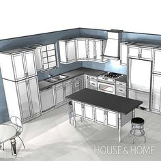Kitchen Interior Remodeling In this episode, Reiko and Dave pick appliances first to determine the dimensions for the cabinets in the planned L-shaped kitchen. - Get kitchen design tips from Reiko Caron. Kitchen Redo, Home Decor Kitchen, Interior Design Kitchen, New Kitchen, Kitchen Ideas, Kitchen Inspiration, Kitchen Sinks, Rustic Kitchen, Country Kitchen