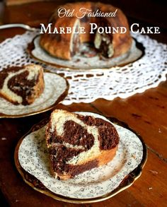 Old fashioned marble pound cake recipe is easy to make, moist and delicious. Perfect for when you aren't sure whether you want chocolate or vanilla! by restlesschipotle Marble Pound Cakes, Marble Cake Recipes, Pound Cake Recipes, Dessert Recipes, Icing Recipes, Cheesecake Desserts, Top Recipes, Cupcake Recipes, Dessert Ideas