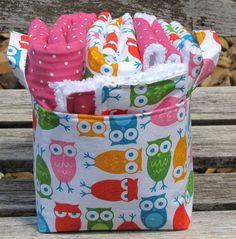 Baby Girl Gift Set 7 pcs.-Urban Zoologie Owls. $38.50, via Etsy.