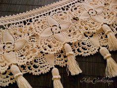 Lace. Border. Braid. Knitting. Yarn. Cotton. by AlisaSonya on Etsy