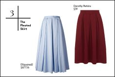 30 Summer Essentials You Can't Skip #refinery29  http://www.refinery29.com/summer-fashion#slide3  3. The Pleated SkirtA good pleated skirt is always an essential, so if you don't already have one of these at your disposal, now is the perfect time to pick one up. Avoid schoolgirl vibes by choosing a skirt with some length, and wear it with a full-coverage crop top, a flouncy cami, or a band tee.
