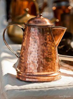 """Copper Pot"" by Lynn Wiezycki. I need a copper kettle in my life. Copper Pots, Copper Kitchen, Copper And Brass, Antique Copper, Hammered Copper, Copper Dishes, Design House Stockholm, Copper Decor, Zinn"